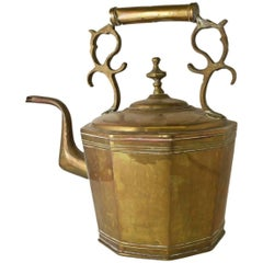 Antique European Brass Kettle or Teapot