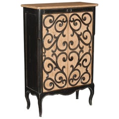 Bar Cabinet with 2 Doors Featuring Inlaid Metal Accent - FREE LOCAL DELIVERY