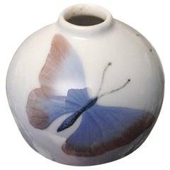 Bing & Grondahl Art Nouveau Vase with Butterflies #86/25