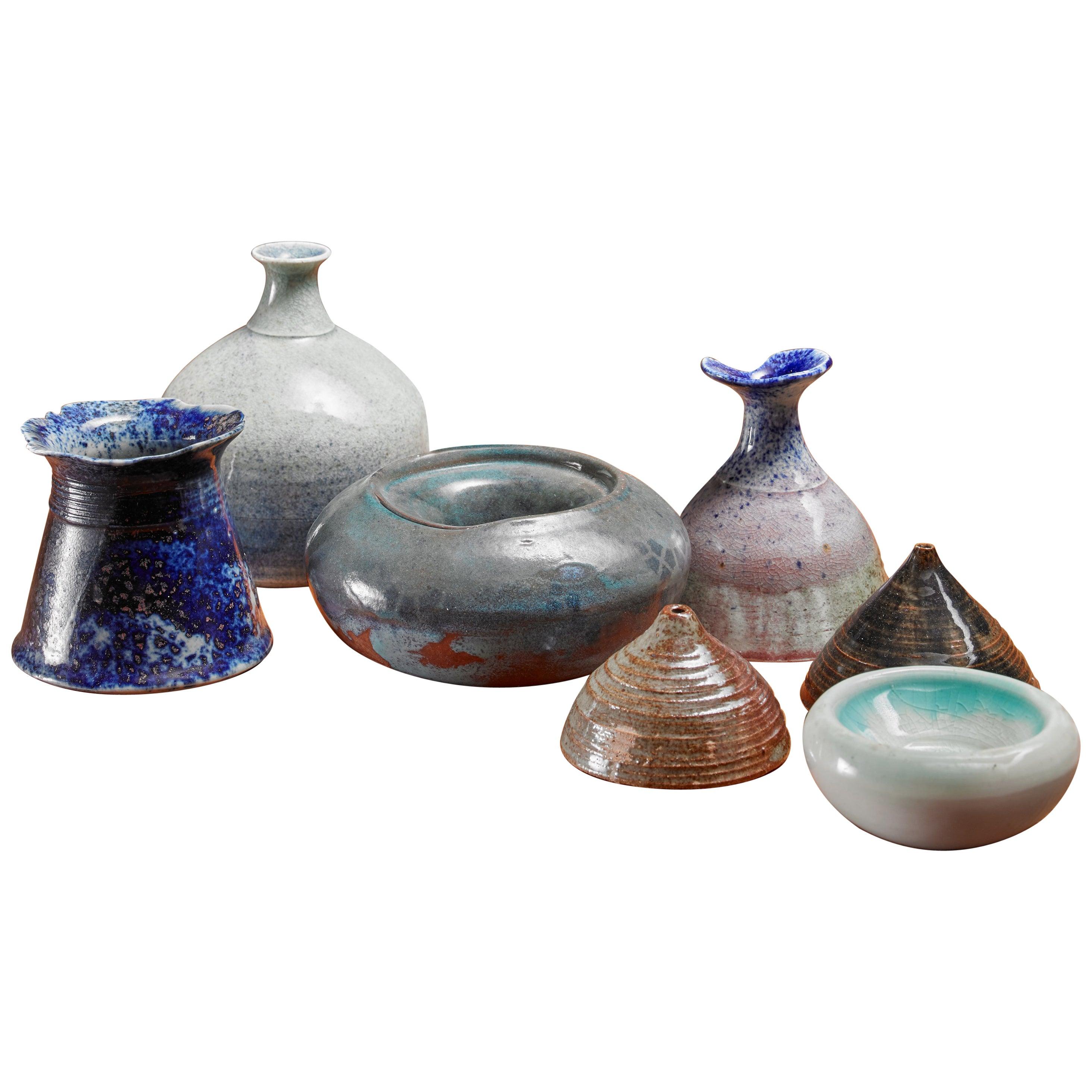 Franco Agnese Set of Seven Ceramic Pieces, France, 1960s