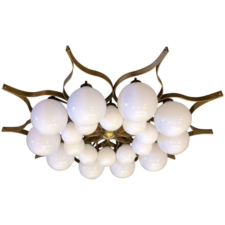 Beautiful Chandelier in the Style of Gio Ponti
