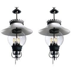 Very Early Humphrey Lanterns, Matching Pair
