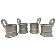 Four Vintage Pewter Holders