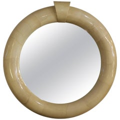 Goat Skin Mirror by Enrique Garcel for Piarotti