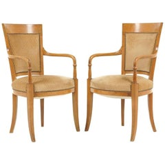Pair of French Empire-Style Armchairs