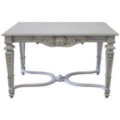 20th Century Carved and Painted Neoclassical Style Centre Table