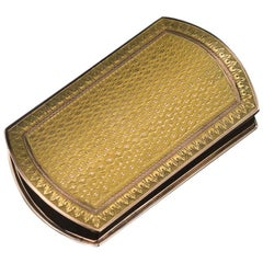 Antique 19th Century French 18-Karat Solid Gold Snuff Box, circa 1880