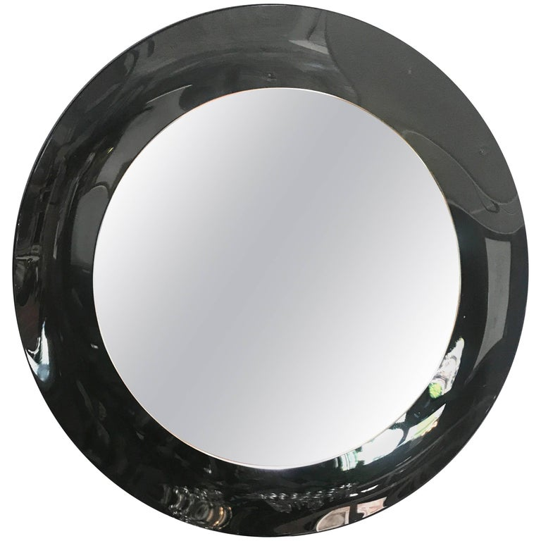 Italian Gray Mirror, 1960s For Sale