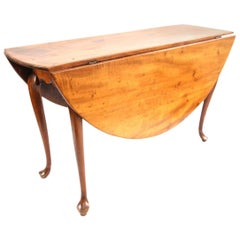New England Queen Anne Maple Drop-Leaf Table