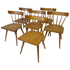 Paul McCobb Set of Six Spindle Back Planner Group Dining Chairs