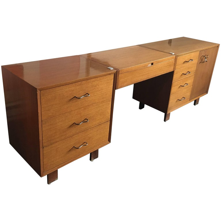 George Nelson Credenza/Dressers with Vanity/Desk Herman Miller, 1950 For Sale