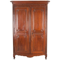 French 19th Century Transitional Walnut Armoire