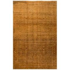 Oversize Antique Beige Persian Bidjar Carpet