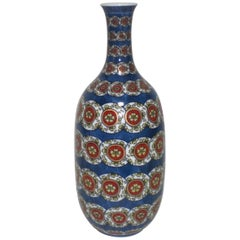 Porcelain Vase  Blue White Red by Japanese Master Artist