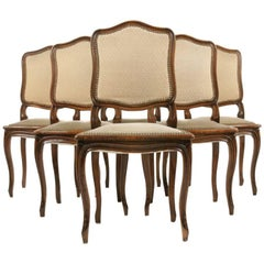 Set of Six Louis XV-Style Dining Chairs