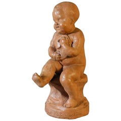 French Terracotta Sculpture, 20th Century by Louis Auguste Joseph Bertrand