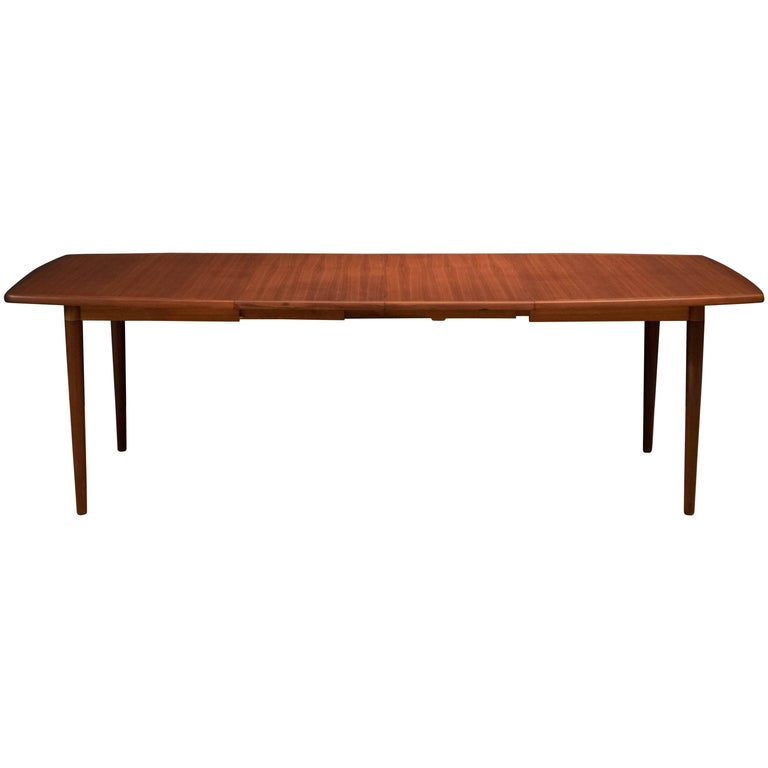 Scandinavian Teak Dining Table by Gustav Bahus
