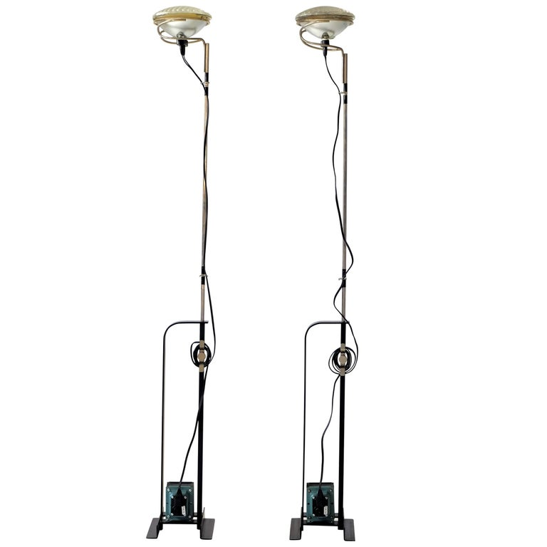 Pair of achille castiglioni toio floor lamps at 1stdibs pair of achille castiglioni toio floor lamps for sale mozeypictures Choice Image