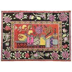 Beautiful Antique Chinese Khotan Rug