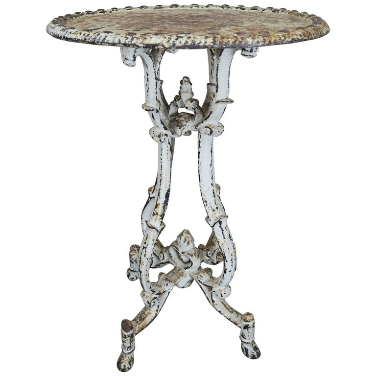 French Cast Iron Garden Side Table At 1stdibs