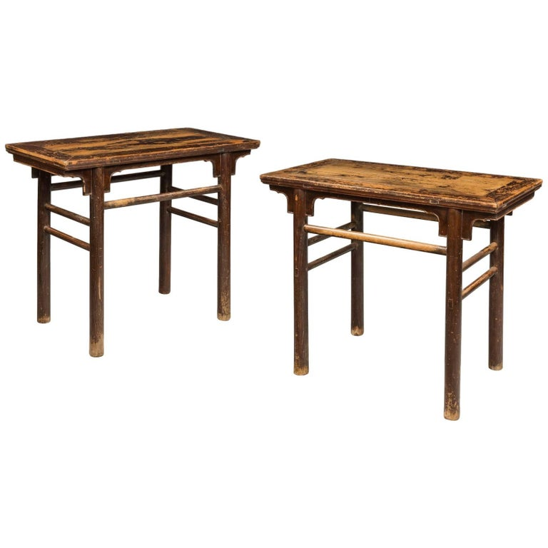Pair of 19th Century Chinese Alter Tables