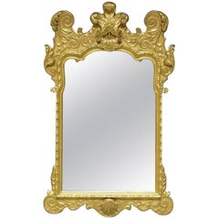 19th Century George I Style Carved Giltwood Mirror