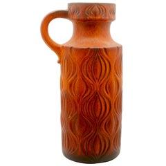 "Fat Lava 'Scheurich' Decor ""Amsterdam"" Large Jar, Vintage W-Germany, 1964s"