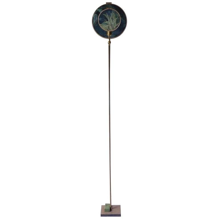 Circle Blue Grey, Floor Lamp, Sander Bottinga For Sale