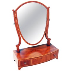 Antique Georgian Mahogany Dressing Table Mirror