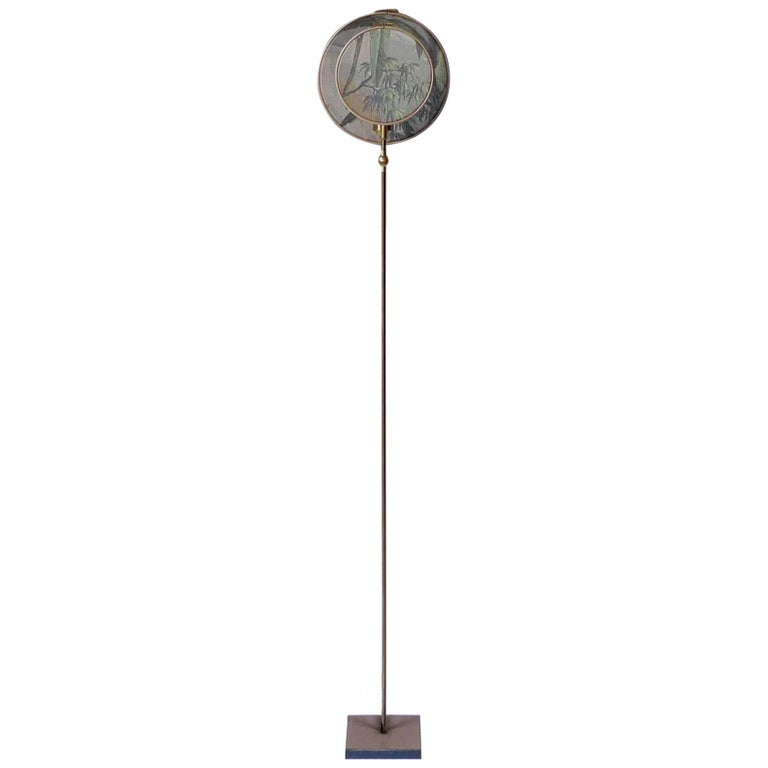 Circle Blue Grey, Floor Lamp, Sander Bottinga For Sale