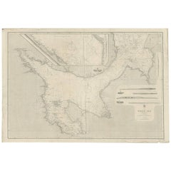 Antique Map of the White Sea 'Russia' by J. & C. Walker, 1885