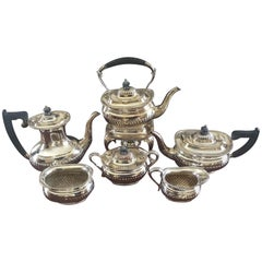 Six-Piece Sheffield Silver Plate Coffee and Tea Service