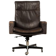 De Sede DS 201 Executive Swivel highback armchair by Robert Haussmann 1957