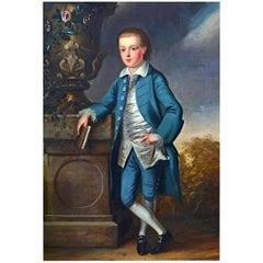 John S.C. Schaak, Fl. 1760-1770, Large Full Length Oil on Canvas