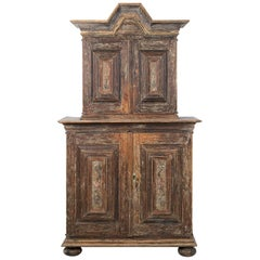 18th Century Swedish Baroque Cupboard