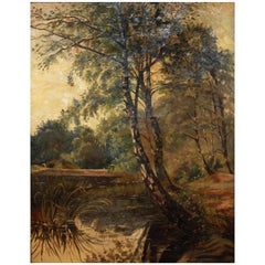 Large Early 20th Century Oil on Canvas
