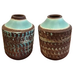 Jean Besnard Art Deco Pair of Ceramic Vase, circa 1930