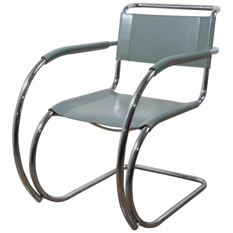Thonet S533 Cantilever Chair, Armchair, Lounge Chair Designed by L. Mies vd Rohe For Sale