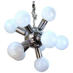 Atomic Age Molecular Chandelier in Chrome