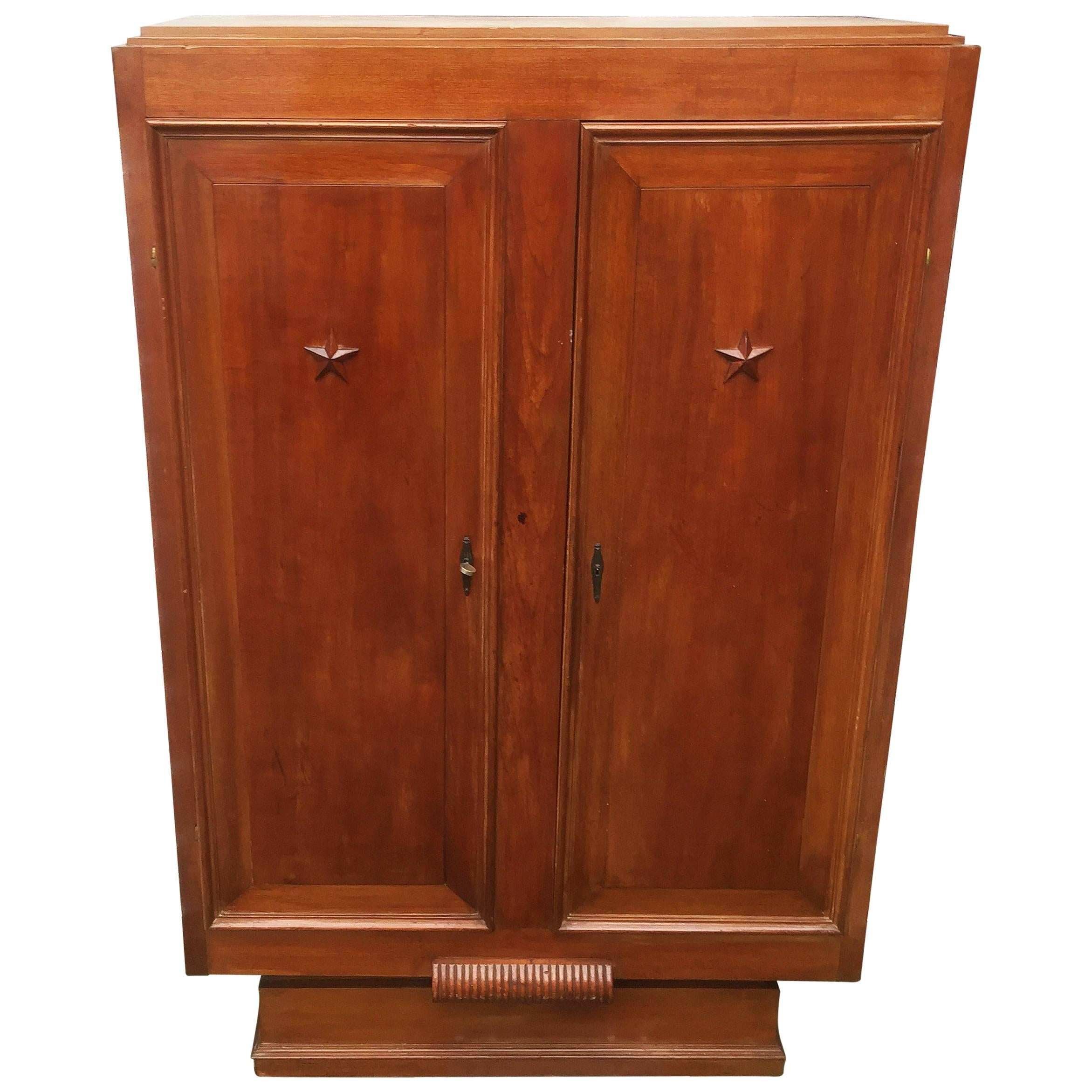 Art Deco Mahogany Cabinet in the Style of Maxime Old