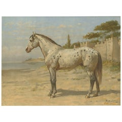Antique Print of the Turkish Horse by O. Eerelman, 1898