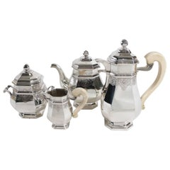 Fine French Silver Four-Piece Tea and Coffee Set