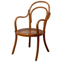 Thonet Children Chair No 1, a Miniature Bentwood Armchair