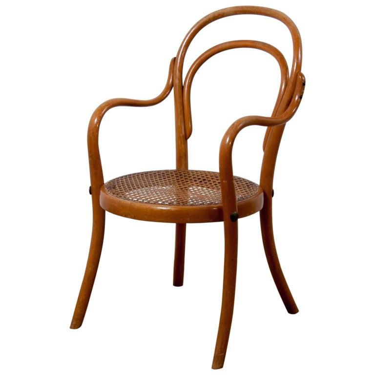 Thonet Children Chair No 1, a Miniature Bentwood Armchair