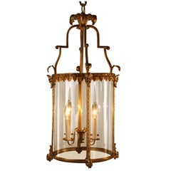 Early 20th Century French Bronze Four-Light Lantern