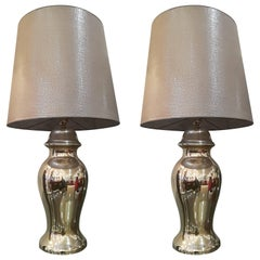 Beautiful Pair of Eglomized Table Lamps