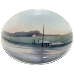 Bing and Grondahl Wall Plate with Harbor Motif #4736/357-13