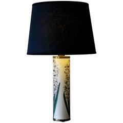"""1950s Piero Fornasetti Italian Mid-Century Modern Table Lamp """"Hyacinths"""""""