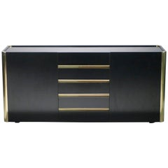 Willy Rizzo brass lacquer sideboard 1970's