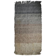 1970s Multi-Wool Salesmen Sample Throw Rug by Design Research
